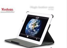 Black YOOBAO Genuine Leather Stand Magic Smart Cover Case for Apple iPad 2