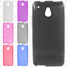 For AT&T HTC ONE MINI Frosted TPU CANDY Flexi Gel Skin Case Cover +Screen Guard