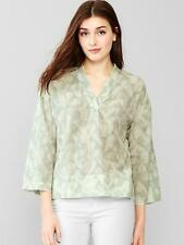 GAP WOMENS 2015 BRUSHSTROKE V-NECK BLOUSE TOP $59.95 NWTS M
