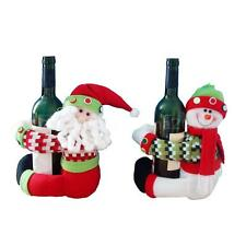 Hot Sale Lovely Winebottle Cover Doll Christmas Santa Cover Decoration 54A4