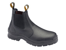 Blundstone Black Full Grain Leather Slip On Safety Work Boot (310)