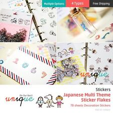 (4 Types) Japanese Multi Theme Sticker Flakes Stickers Diary Deco 78 sheets