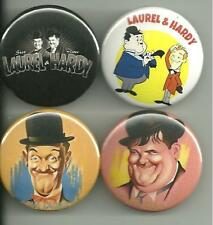 Laurel and Hardy 1.5 inch Pins Buttons Magnet  Set 1