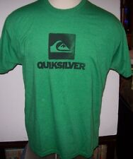 NEW Quiksilver  tee short sleeve t shirt men sz small green blue