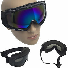 Ski Snow Goggle Anti Fog Colored Dual Double Lens Adult Snowboard Winter Mask