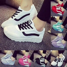 Womens Mesh Sneaker Breathable Running Board Shoes Casual Flatform Boot Lace Up