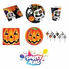 Halloween Party Tableware Range - Paper Plates, Napkins, Cups & Tablecovers