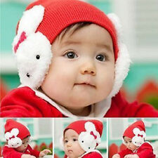 Hot Baby Kids Toddler Boy Girl Cotton Hat Winter Warm Rabbit Ear Flap Beanie Cap