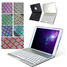 New Bluetooth Keyboard Led Backlight Aluminum Alloy Case Cover  For iPad Air 1/2