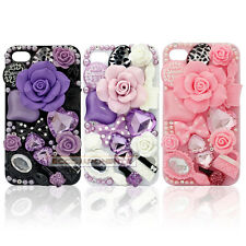 3D Rose Crystal Bling Diamond Handmade Slim Case Cover For Samsung Galaxy/iphone