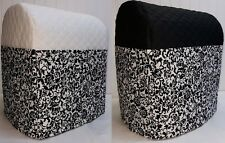 Quilted Floral Damask Cover for Kitchenaid 7qt Lift Bowl Stand Mixer w/6 Pockets