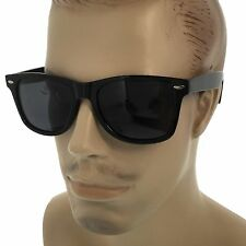 MENS Polarized Sunglasses Black Wayfarer Style Dark Lens Retro Frame Shades