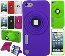 For iPod Touch 6 6th Gen Rubber SILICONE Soft Gel Camera Skin Cover+Screen Guard