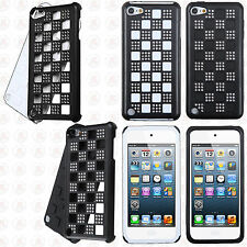 For iPod Touch 6 6th Gen Hybrid Rubber Hard Checker Case Cover +Screen Protector