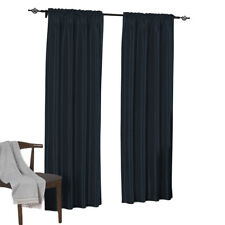 Navy Soho Faux Silk Window Treatment (Available in 4 Sizes)