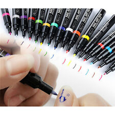 16 Colors Nail Art Pen Painting Design Tool Liner Dotting Drawing Brush Polish