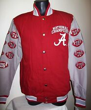 ALABAMA CRIMSON TIDE 15 TIME NATIONAL CHAMPIONSHIP Cotton Jacket  M L XL 2X