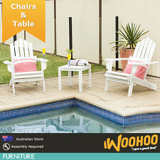 Cape Cod Chair Table Set - 2 Combos: 2x Table + 1x Table OR 1x Table + 1x Table