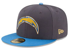 Official NFL San Diego Chargers New Era 59FIFTY Hat On Field Gold Collection