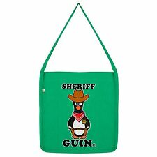 Twisted Envy Sheriff Guin Cowboy Penguin Tote Bag