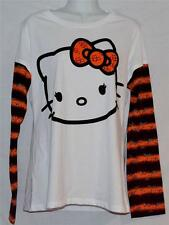Hello Kitty Batty Halloween White Long Sleeve Tee Junior Size XL