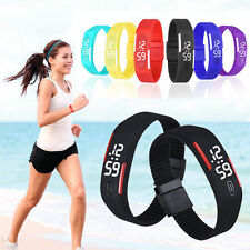 Stylish Womens Mens Waterproof Digital LED Sports Silicone Bracelet Wrist Watch