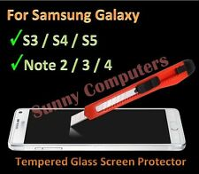 Scratch Resist Tempered Glass Screen Protector Guard for Samsung Galaxy S4 S3 S2