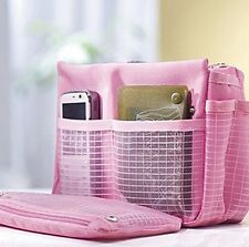 NEW Pink Makeup Cosmetics MP3 Mobile Cell Phone Storage Organizer Multi-use Bag