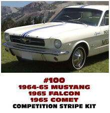 100 FORD COMPETITION - OVER CAR TRIPLE STRIPE - MUSTANG - FALCON - COMET