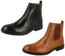 Mens Maverick Zip Up Brogue Dealer/Chelsea Ankle Boots in 2 Colours Style A3050