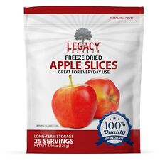LONG TERM FREEZE DRIED APPLE SLICES- DRIED EMERGENCY PREPPER FOOD STORAGE SUPPLY
