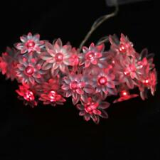 20 LED Double lotus String Fairy Light Wedding Party Christmas Decor 2 Colors