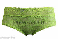 LADIES GORGEOUS MARKS & SPENCER KNICKERS LIME ALL OVER LACE BRIEFS M&S UNDERWEAR
