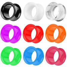 Flesh Screw Tunnel Ear Tunnel Plug Piercing Double Flared Plastic Color Ear Tube