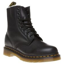 New Womens Dr. Martens Black Serena Leather Boots Ankle Lace Up