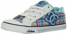 KIDS DC SHOES YOUTH GIRLS CHELSEA WHITE BLUE WBL childs skate trainers ladies
