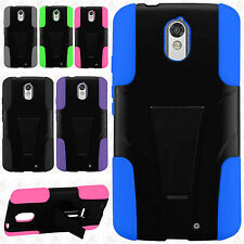 For Motorola Droid Turbo 2 Advanced KICK STAND Rubber Case Phone Cover Accessory