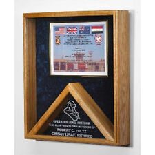 Military Certificate And Flag Case - Flag Shadow Box Hand Made By Veterans