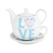 NEW PERSONALISED TEA FOR ONE - TEAPOT AND TEA CUP 4 DESIGNS BIRTHDAY CHRISTMAS