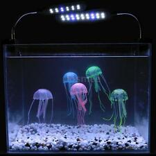 Artificial Glowing Effect Fish Tank Decoration Aquarium Jellyfish Ornament E8BD