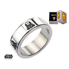 Men's Officially Licensed Stainless Steel Star Wars Darth Vader Spinner Ring