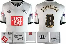 *15 / 16 - UMBRO ; DERBY COUNTY HOME SHIRT SS + PATCHES / STURRIDGE 8 = SIZE*