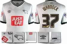 *15 / 16 - UMBRO ; DERBY COUNTY HOME SHIRT SS + PATCHES / WARNOCK 37 = SIZE*