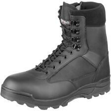 Brandit Tactical Military Combat Side Zip Boots Police Leather Footwear Black