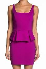 Robert Rodriguez Peplum Pencil Dress Fuchsia Purple Pink Mini Jersey Pleated NEW