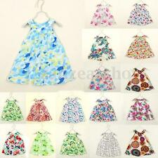 Baby Kids Girls Clothing Party Princess Summer Sleeveless Flower Tutu Mini Dress