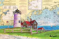 NOBSKA POINT LIGHTHOUSE ART PRINT Woods Hole Cape Cod Nobsque Light Station Gift