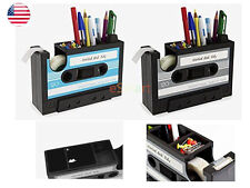 Desk Tidy Retro Cassette Tape Pencil Holder Pen Container - Organize Your Desk