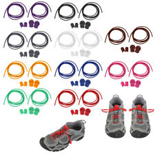 Elastic Laces Lock Shoelaces Running Triathlon Sports Shoe Trainer Round String