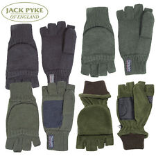 Jack Pyke Shooters Mitts - Fleece, Thinsulate & Suede Palm in Green & Black